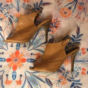 Tan coach heels